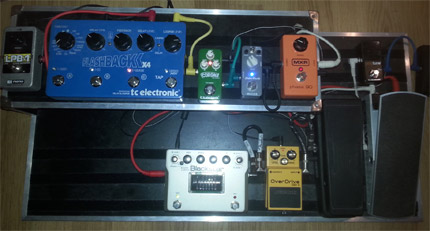 Photo pedalboard Lucas Linussio