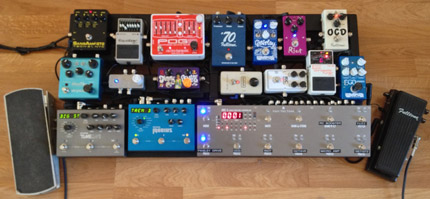 Photo Pedalboard Olivier Pénicaut