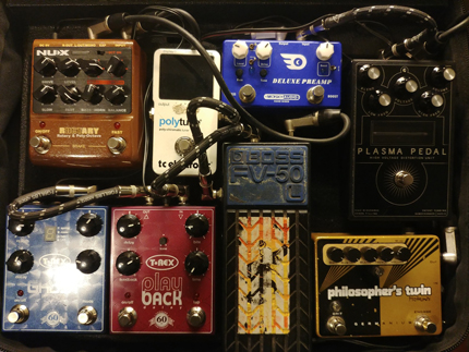 Photo Pedalboard Régis Savigny